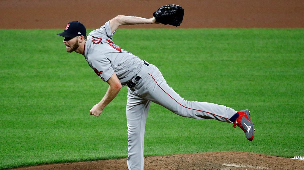 RECAP: Chris Sale records 300th strikeout, Betts and Marrero go deep, and the #RedSox leave Baltimore with asweep.