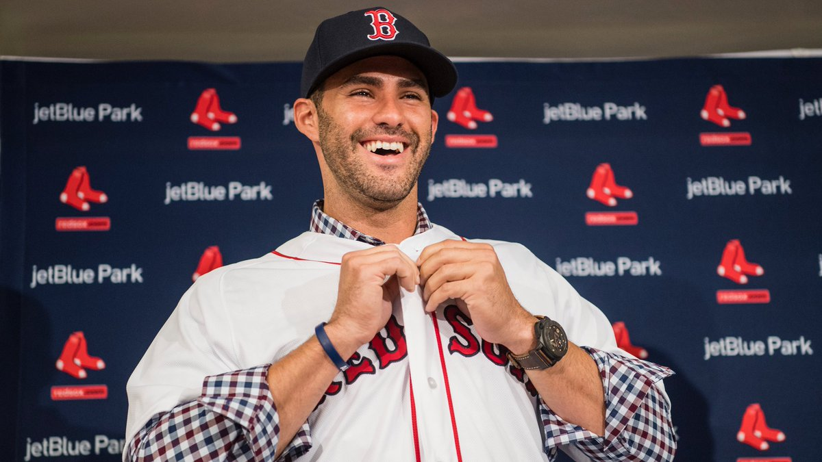 JD Martinez Is Offically a Member of the Boston #RedSox.