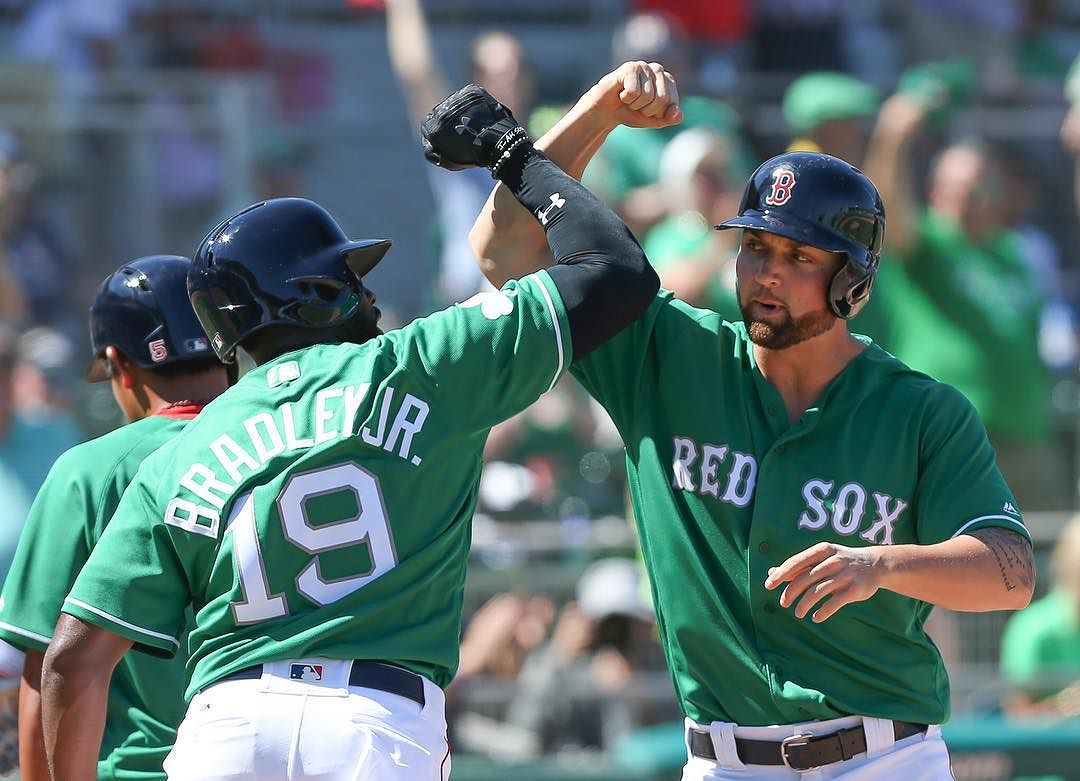 Mitch Moreland and Sam Travis Each Hit a Home Run for the #RedSox Today.