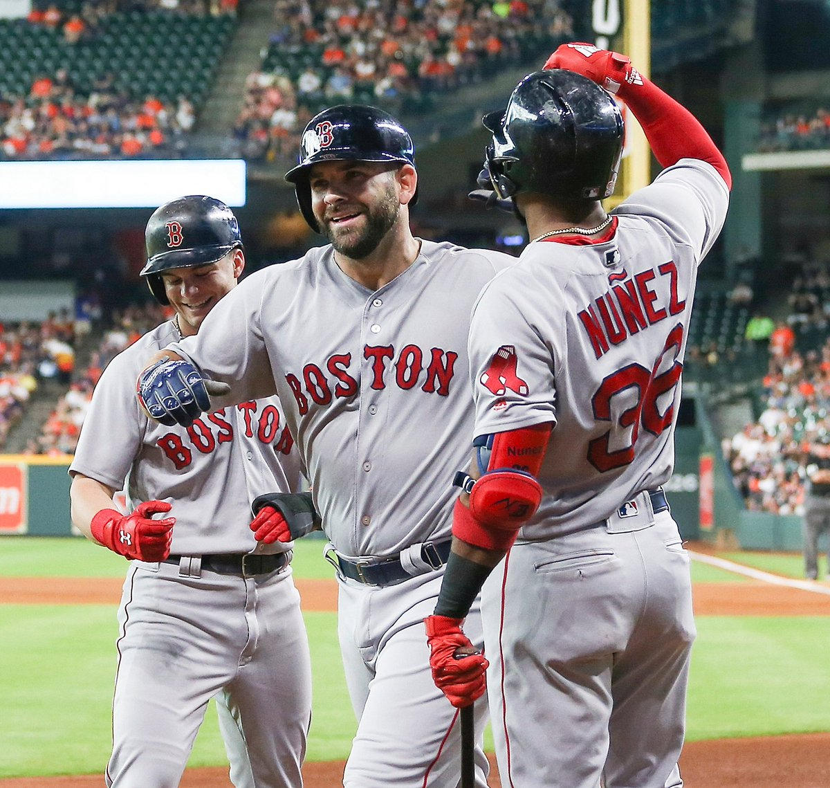 RECAP: #RedSox Head Home with a Series Split as Andrew Benintendi and Mitch Moreland Homer Against Astros Again.