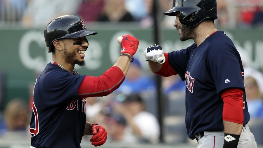 Mookie Betts Batting Leadoff, JD Martinez Cleanup in American League Starting Lineup.