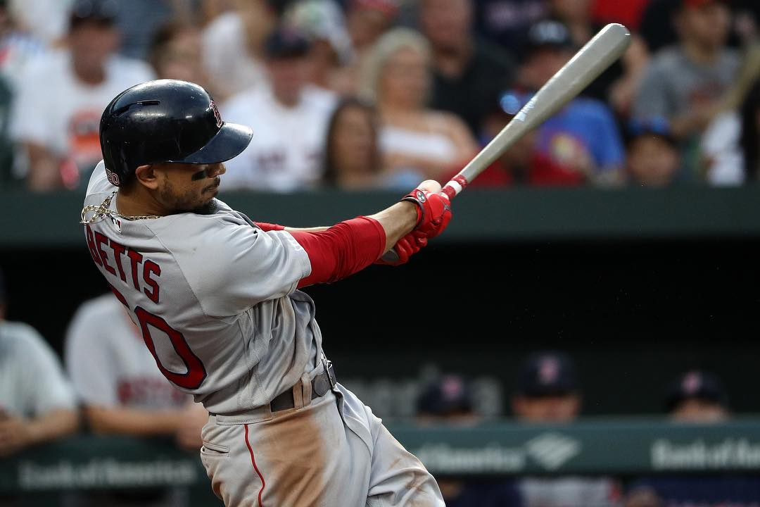 RECAP: Mookie Betts Stays Hot and JD Martinez Reaches 100 RBI Mark as #RedSox Outslug Orioles in 19-12 Win.