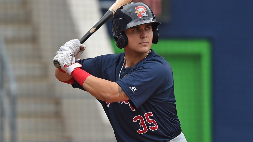 #RedSox Top Prospect Michael Chavis Homers in First Game with Triple A Pawtucket.