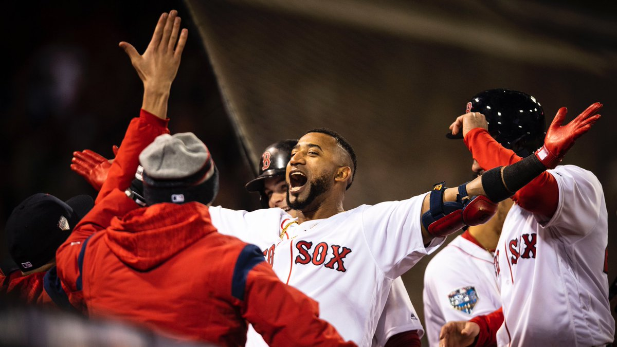 RECAP: Eduardo Nunez Comes off Bench and Mashes Three-Run Home Run as #RedSox Take Game One of World Series from Dodgers.