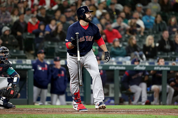 Mitch Moreland Comes Through with Go-Ahead, Pinch-Hit Three-Run Home Run as #RedSox Rally to Top Mariners