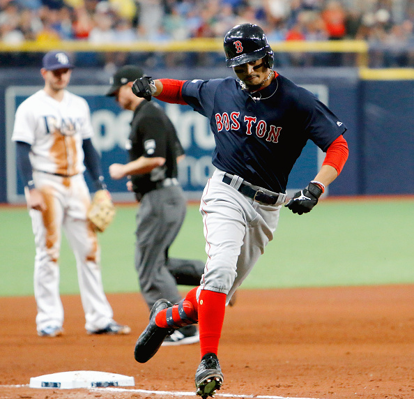 Mookie Betts and Mitch Moreland Come Through with Back-To-Back Late Home Runs as #RedSox Take Opener from Rays