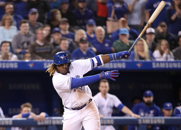 Vladimir Guerrero Jr. Collects First Big League Hit in Blue Jays Debut