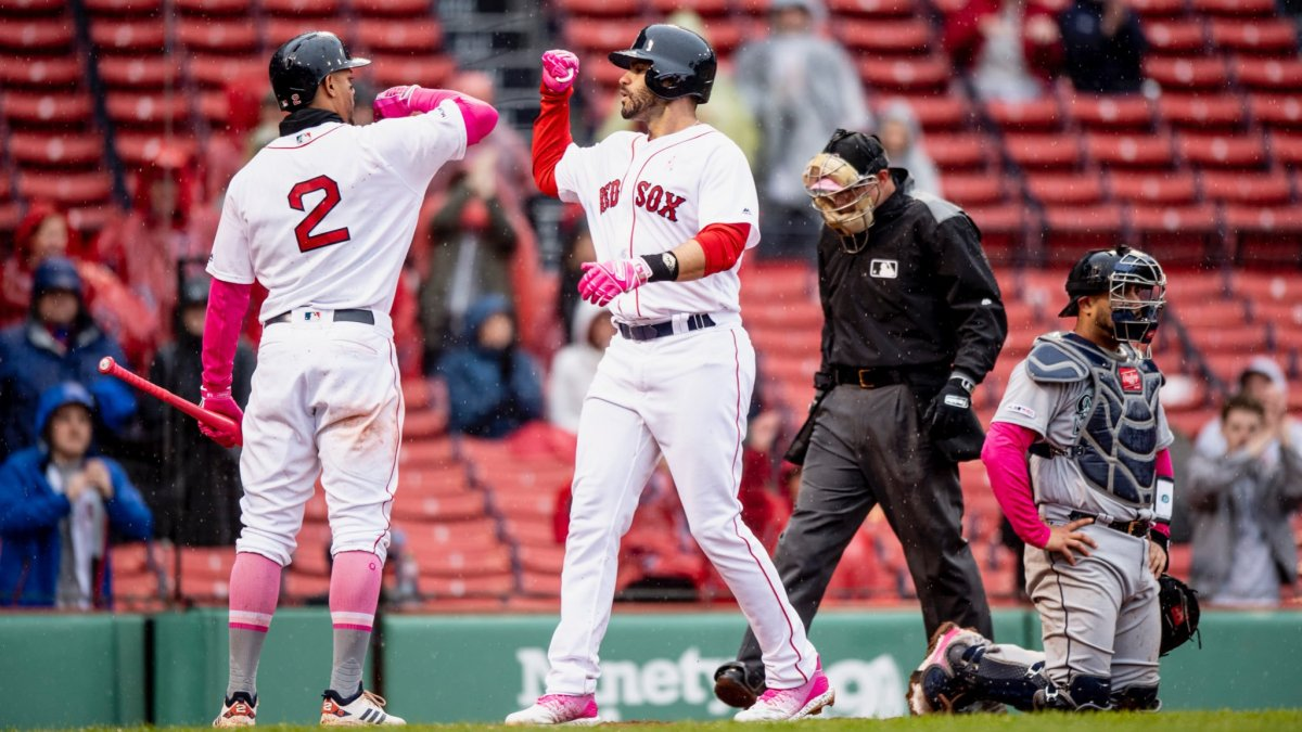 JD Martinez Goes Yard Twice, Michael Chavis Drives in Five Runs as #RedSox Finish off Sweep of Mariners for Fifth Straight Win