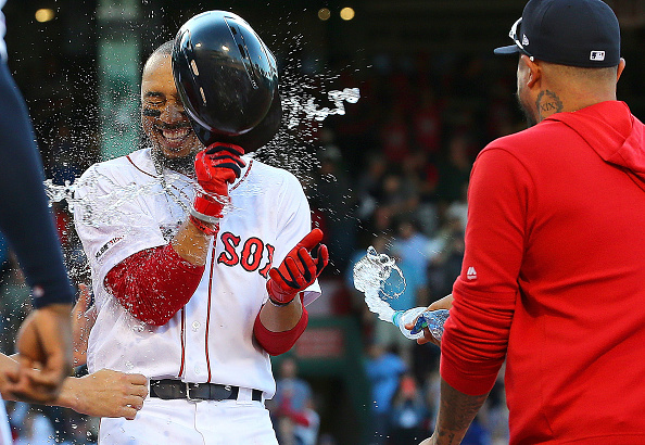 Red Sox Snap Three-Game Skid, Top Rangers 4-3 on Mookie Betts' Walk-OffWalk