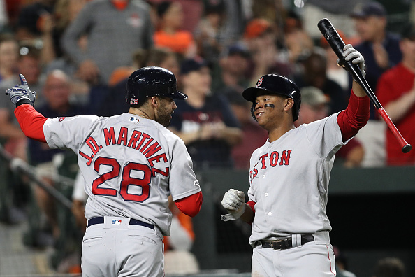 JD Martinez Mashes Two of Red Sox' Six Homers in 13-2 Beatdown of Orioles