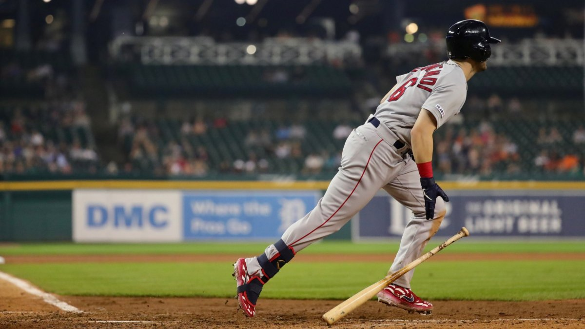 Andrew Benintendi Celebrates 25th Birthday with Four Hits, Finishes Home Run Shy of Cycle as Red Sox Take Series from Tigers with 10-6 Victory