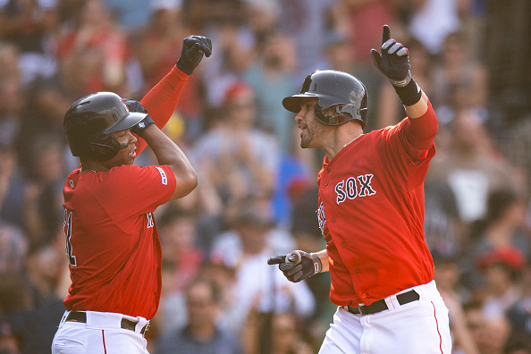 Andrew Benintendi and J.D. Martinez Both Homer as Red Sox Rattle off Nine Runs in Third Straight Win over Yankees