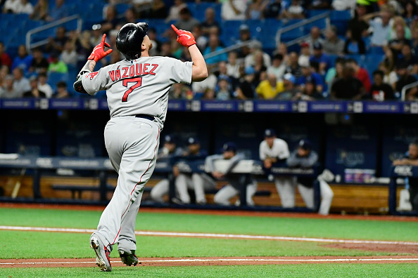 Christian Vazquez Comes Through with Go-Ahead, Pinch-Hit Home Run as Red Sox Hold on to Take Series from Rays and Improve to 10 Games over .500 for First Time ThisSeason