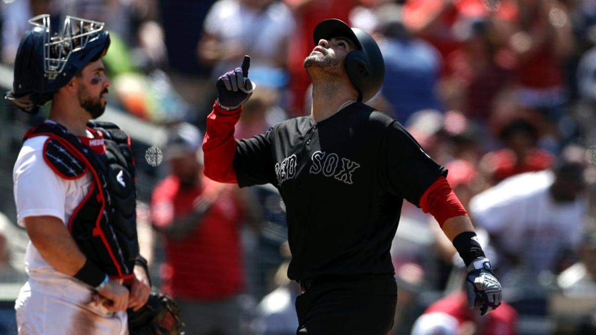 Andrew Benintendi Sits, J.D. Martinez Starts in Left for Red Sox in Series Opener Against Rockies