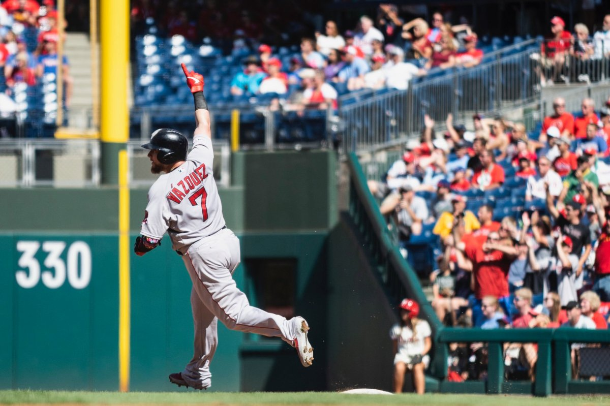 Christian Vazquez Has Career Day at Plate as Red Sox Finish off Sweep of Phillies