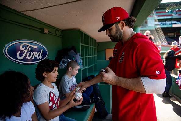 Red Sox' Mitch Moreland Named 2020 Jimmy FundCaptain