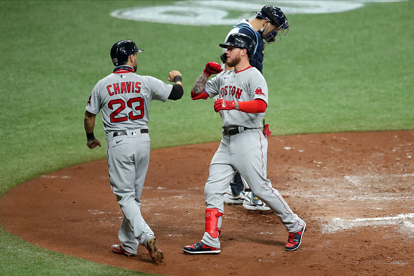 Michael Chavis, Alex Verdugo Both Homer While Martin Perez Tosses Five Scoreless Innings Against Rays as Red Sox Halt Losing Streak atFour
