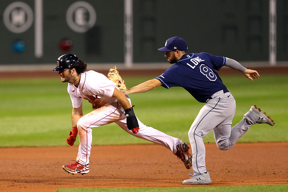 Red Sox Place Andrew Benintendi on Injured List Due to Rib Cage Strain, Recall Ryan Weber From Pawtucket