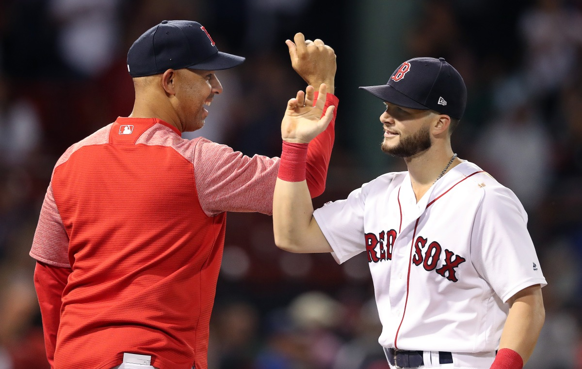 Red Sox manager Alex Cora wants to see Andrew Benintendi return to October 2018 form