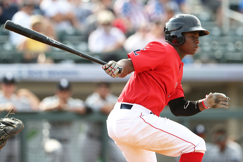 Red Sox add top outfield prospect Gilberto Jimenez to major-league spring training roster