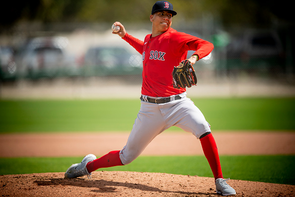 Red Sox pitching prospect Bryan Mata 'will get back into a throwing program before too long to test' out elbow following slight UCL tear