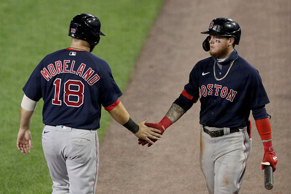 How Red Sox' Alex Verdugo became a better major-leaguer because of veteran teammates like Mitch Moreland, RichHill