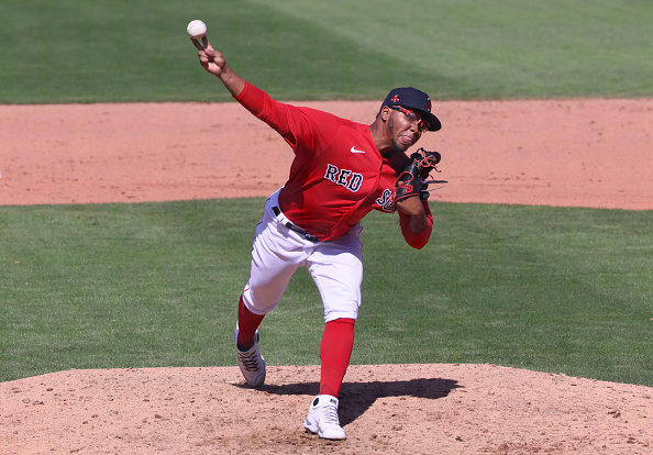 Red Sox call up right-handed pitching prospect Eduard Bazardo to serve as 27th man for Wednesday's doubleheader against Twins