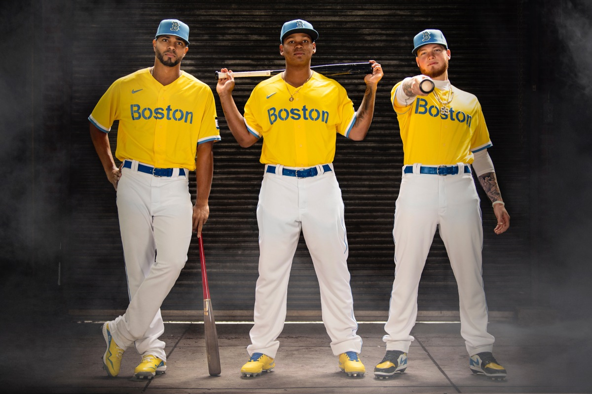 Red Sox unveil new Boston Marathon-inspired 'Nike City Connect' uniforms for Patriots' Dayweekend