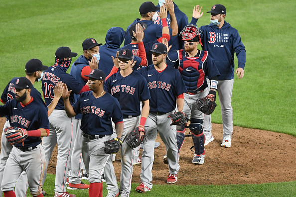 Garrett Richards tosses 5 solid innings after rocky start; Rafael Devers homers again; Matt Andriese picks up save as Red Sox battle back to defeat Orioles, 6-4, in 10 innings for fifth straightwin