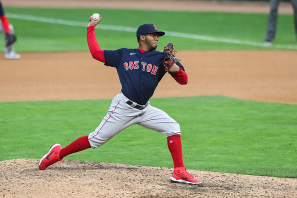 Eduard Bazardo tosses scoreless inning, picks up first career strikeout in major-league debut for Red Sox: 'For us to accomplish what we're trying to accomplish, he will be a factor during the season,' Alex Corasays