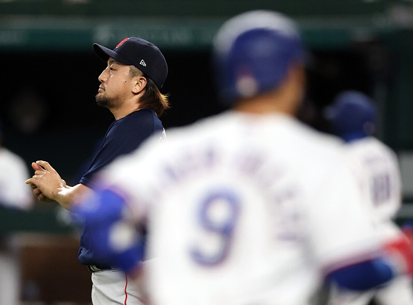 Red Sox manage just three hits off Kyle Gibson; Hirokazau Sawamura gets taken deep twice in 4-1 loss to Rangers