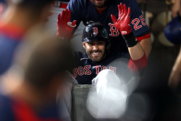 J.D. Martinez crushes 2 homers; Xander Bogaerts and Rafael Devers each go deep once as Red Sox bounce back with 6-1 win overRangers