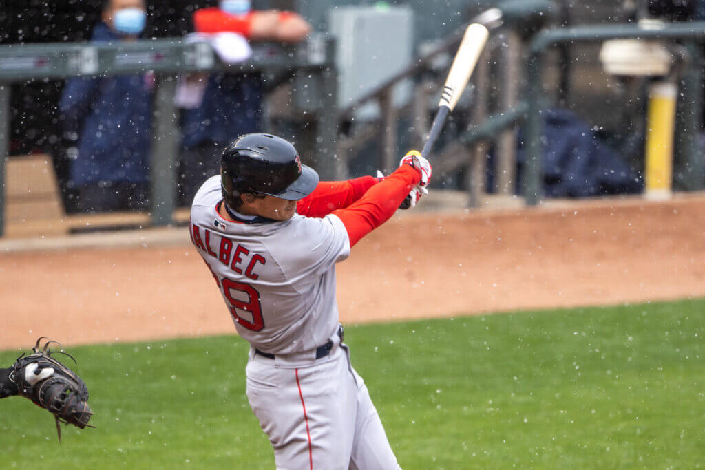 Red Sox' Bobby Dalbec goes 2-for-3 with 2 hard-hit RBI doubles in Tuesday's win over Twins: 'Today, he stayed with the plan, he was very disciplined, and you saw the results,' Alex Corasays