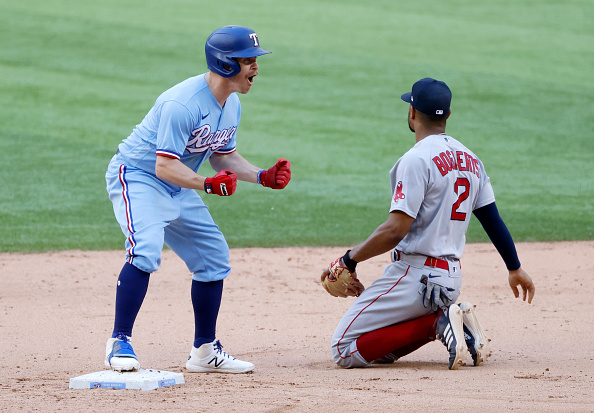 Red Sox close out road trip by blowing another lead in 5-3 loss to Brock Holt'sRangers