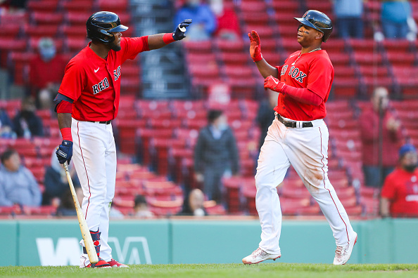 Franchy Cordero leads the way with 3 hits as Red Sox battle back to take series from Tigers with wild 12-9win