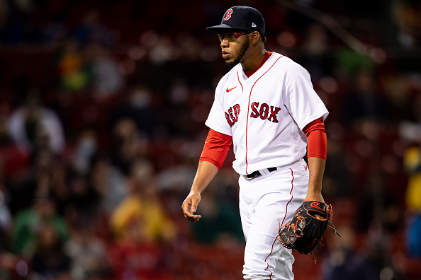 Red Sox prospect Eduard Bazardo dealing with right lat strain; Boston is 'still working to determine the severity of the injury,' perreport