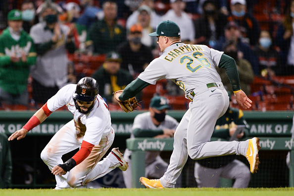 Red Sox muster just 5 hits as offensive struggles continue in 4-1 loss toAthletics