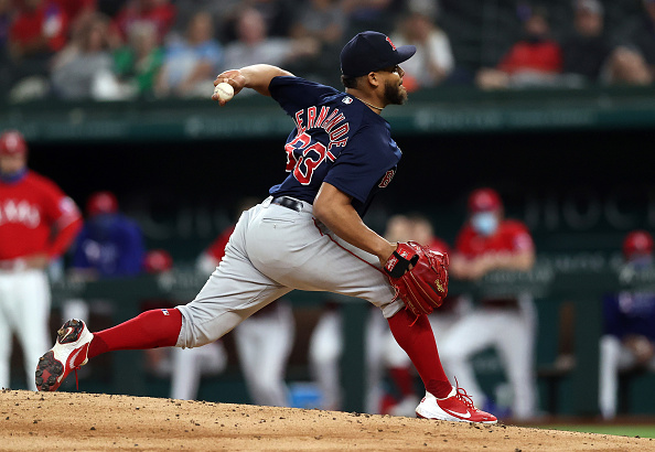 Red Sox' Darwinzon Hernandez has struck out 6 of the last 7 hitters he has faced: 'The fastball up in the zone is hard to hit,' Alex Corasays
