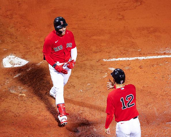 Alex Verdugo comes through with clutch, go-ahead 3-run home run as Red Sox top Marlins, 5-2, in rain-shortened contest at FenwayPark