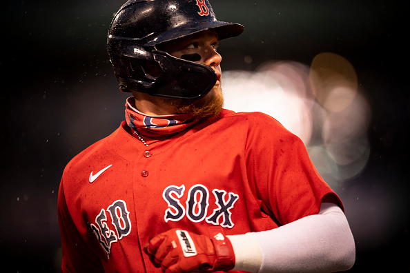 Alex Verdugo out of Red Sox lineup for second straight night due to back tightness; outfielder expected back for Thursday's finale againstAstros