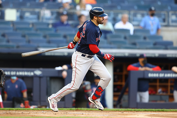 J.D. Martinez held out of Red Sox lineup for second straight  day due to sore left wrist; X-rays on slugger's wrist did come backnegative