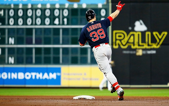 Martín Pérez tosses 7 2/3 scoreless innings, Christian Arroyo crushes 3-run homer as Red Sox salvage series against Astros with 5-1win