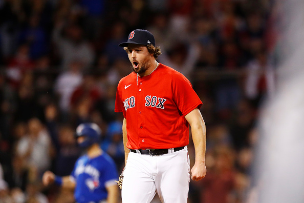 Red Sox' Josh Taylor extends scoreless streak to 18 consecutive appearances in Monday's win over Blue Jays; 'He did an outstanding job,' Alex Corasays