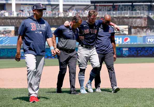 Red Sox injuries: Christian Arroyo (bone bruise), Kevin Plawecki (hamstring tightness) removed from Sunday's series finale againstRoyals