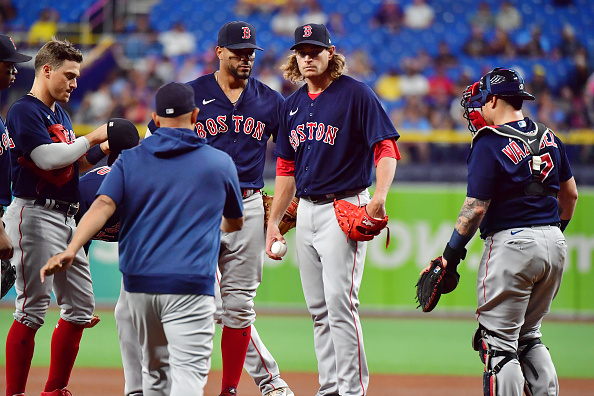 Garrett Richards gets rocked in shortest outing of season as Red Sox fall to Rays,8-2