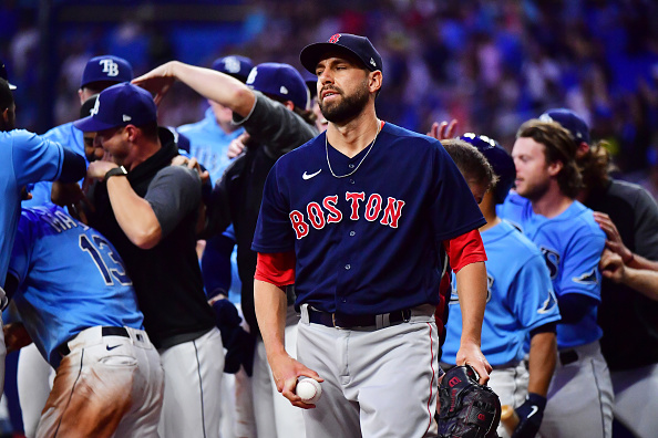 Nick Pivetta dominates with 6 2/3 no-hit innings, but Red Sox fall to Rays, 1-0, on walk-off wild pitch from MattBarnes