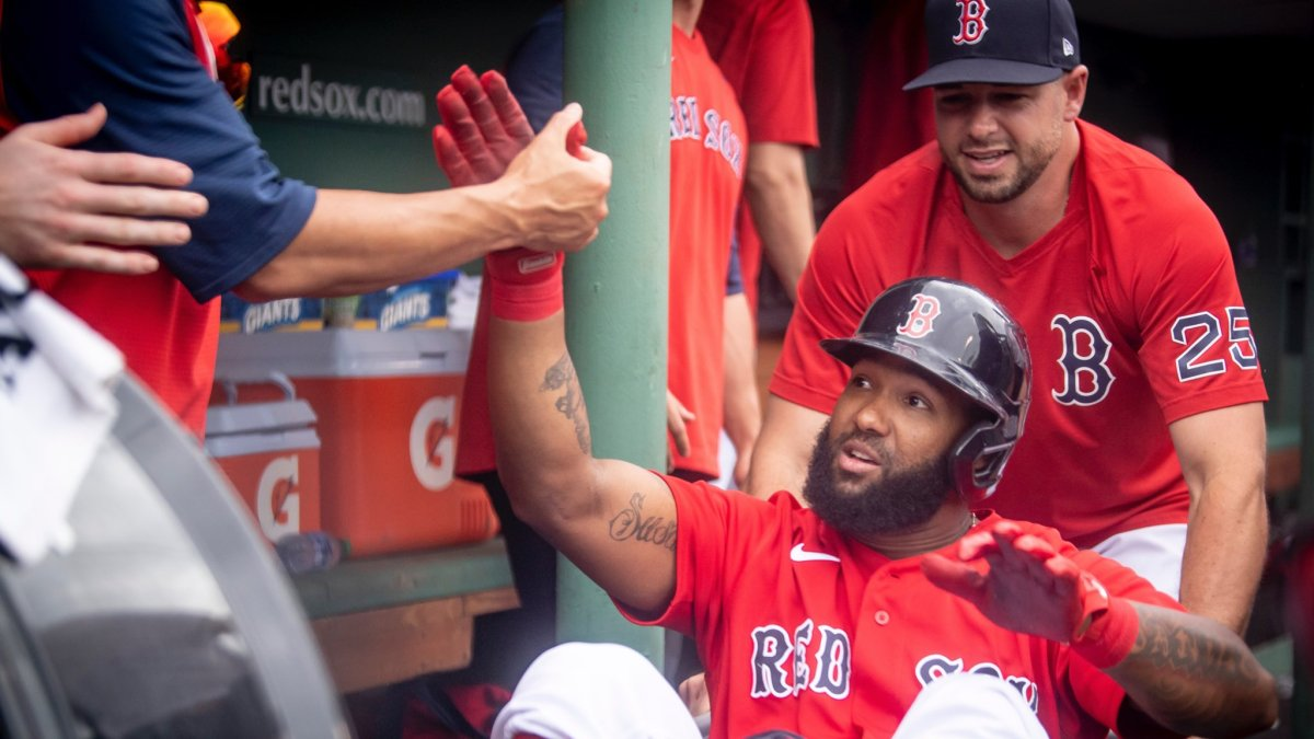Rafael Devers, Danny Santana collect 5 RBI each as Red Sox crush Royals, 15-1, to finish off sweep and perfecthomestand
