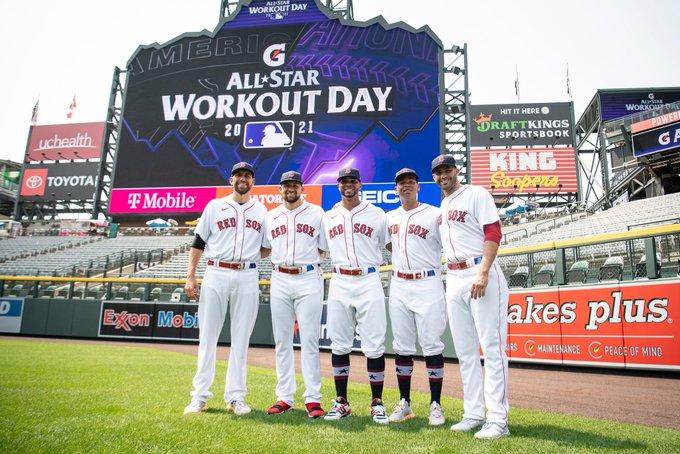 Red Sox at the All-Star Game: Xander Bogaerts, Rafael Devers, J.D. Martinez combine for 3 hits; Nathan Eovaldi, Matt Barnes toss scoreless inning each in American League's 5-2win