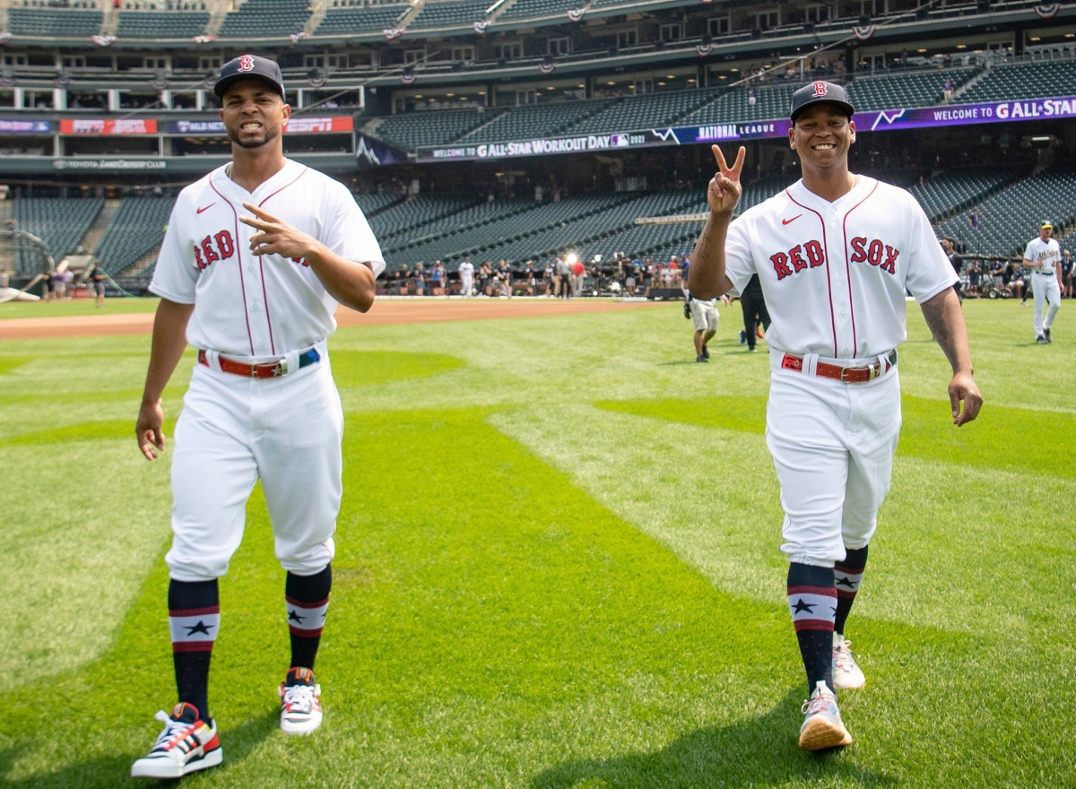 Red Sox' Xander Bogaerts and Rafael Devers batting third and fifth in American League's starting lineup for 2021 All-StarGame