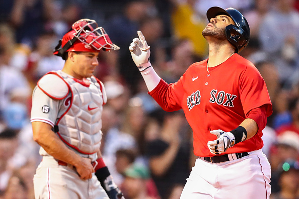 Kiké Hernández, J.D. Martinez, Rafael Devers all homer as Red Sox power their way to 11-5 win overPhillies